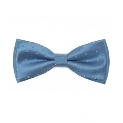 Modrý pánský motýlek s jemným vzorem + kapesníček