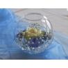 Skleněná váza koule - průměr 14cm