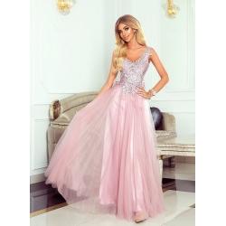 Dlouhé fialové šaty LOTOS