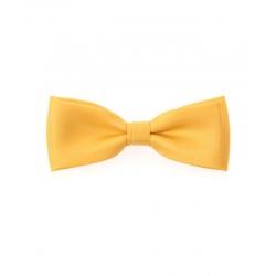 Žlutý pánský motýlek ze saténu + kapesníček