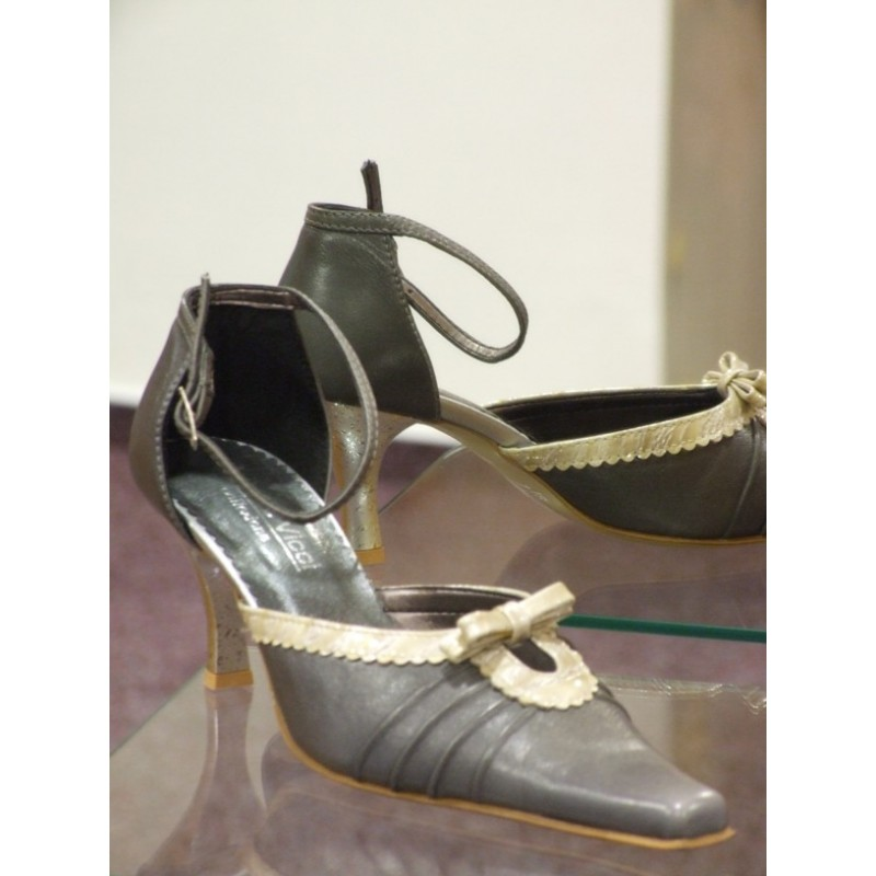 Dámské společenské boty Monika šedá