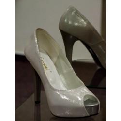 Dámské společenské boty Sylva stříbrná