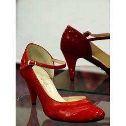 Dámské společenské boty Mušle červená