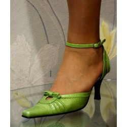 Dámské růžové společenské boty Nela zelená
