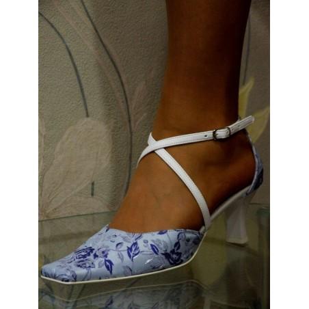Dámské společenské boty Růža modrá