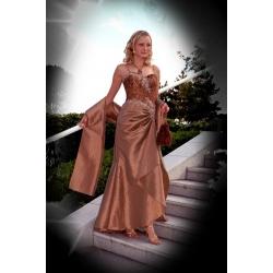 Dlouhé hnědé šaty MISS BROWN