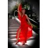 Dlouhé červené šaty MISS RED