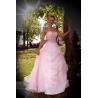 Dlouhé růžové šaty RŮŽENKY
