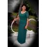 Dlouhé zelené šaty CHRISTINE SMARAGD
