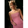 Dlouhé růžové šaty DELICATE PARIS