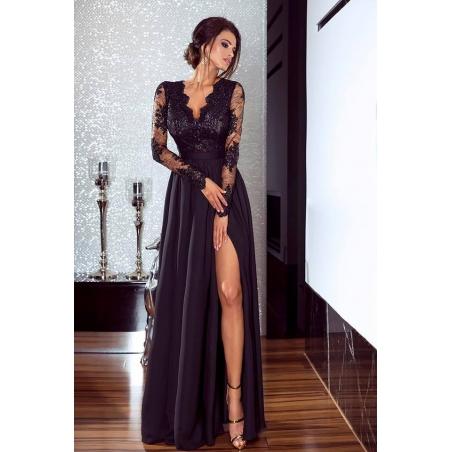 Dlouhé černé šaty ELIET